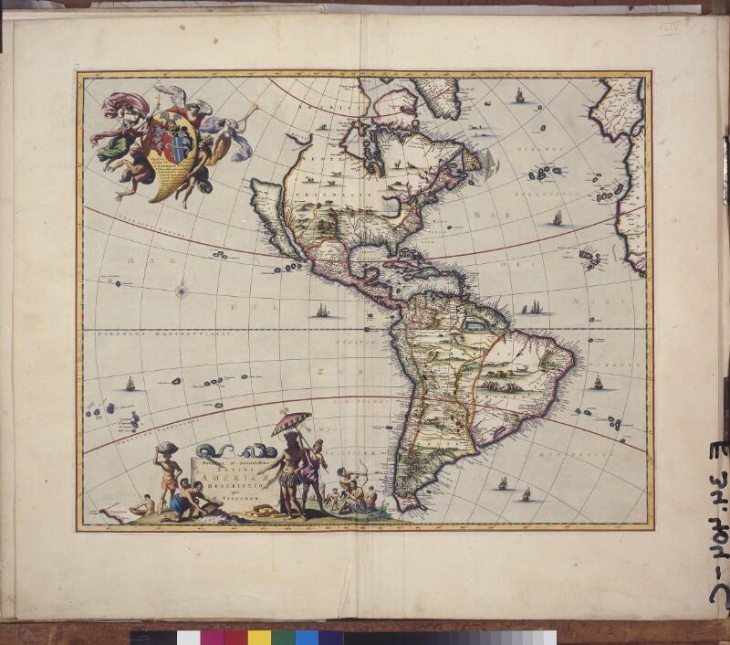 Landkarte von Amerika