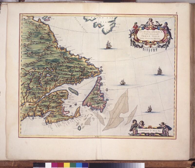 Landkarte von Neufundland und Neufrankreich