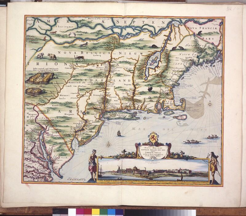 Landkarte von Neu-Niederlande und Neuengland