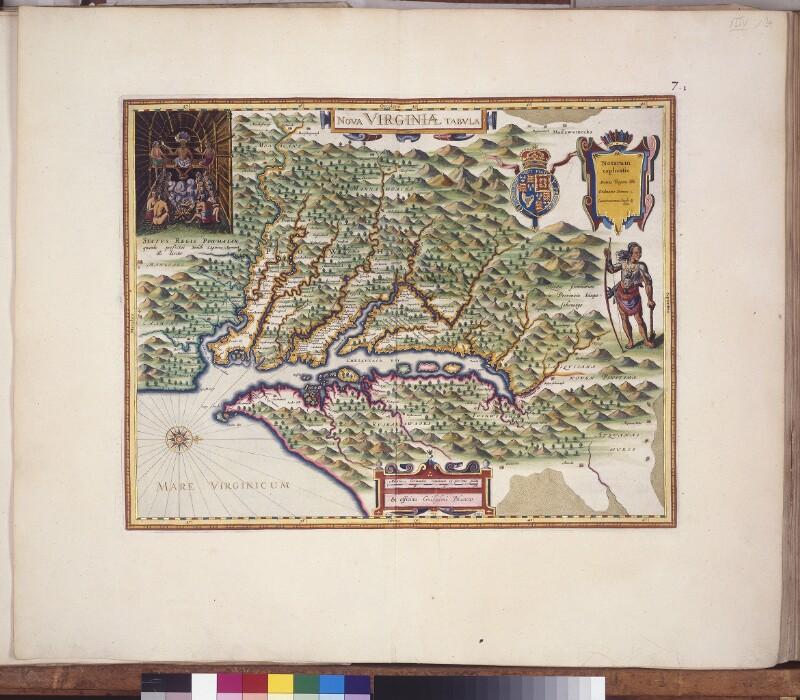 Landkarte von Virginia
