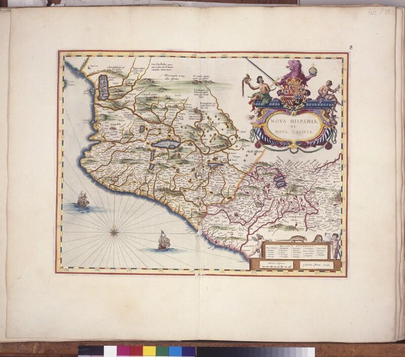 Landkarte von Neuspanien und Neugalicien (Westmexiko)