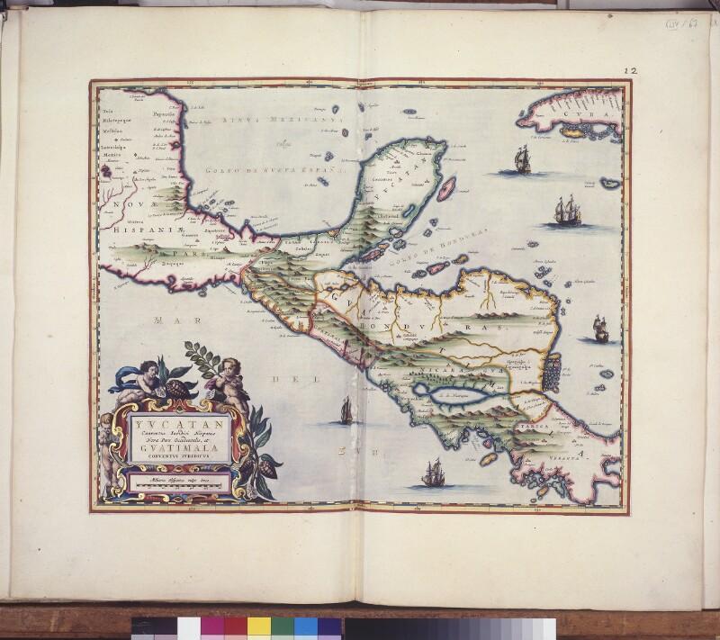 Landkarte von Zentralamerika