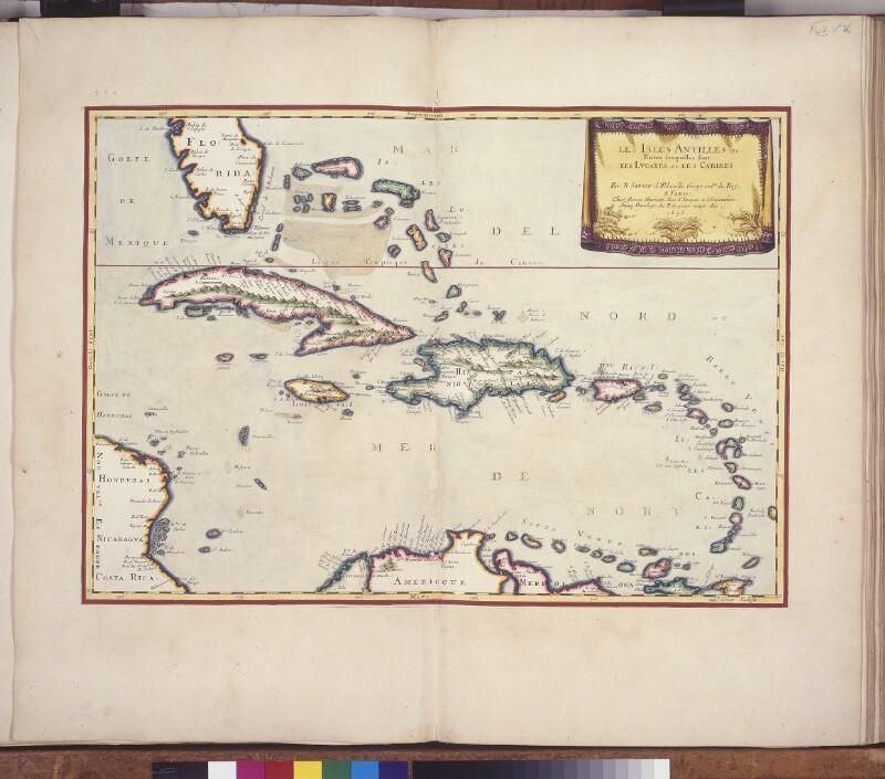 Landkarte der Antillen