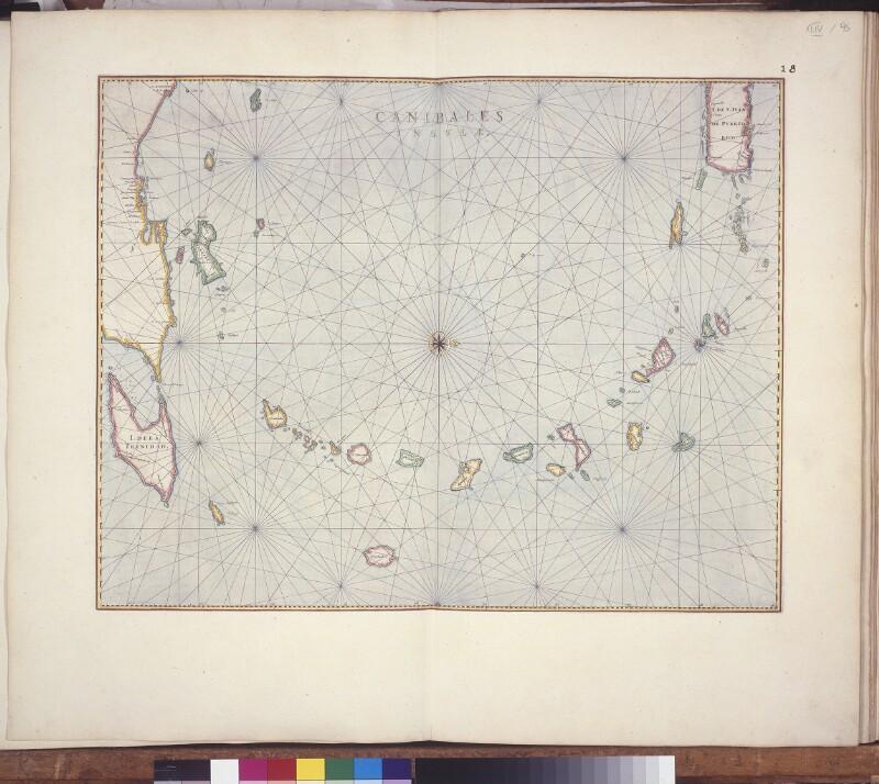 Landkarte der Kleinen Antillen