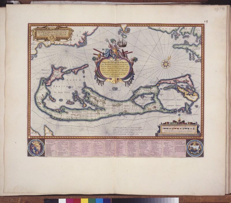 Landkarte der Bermudas