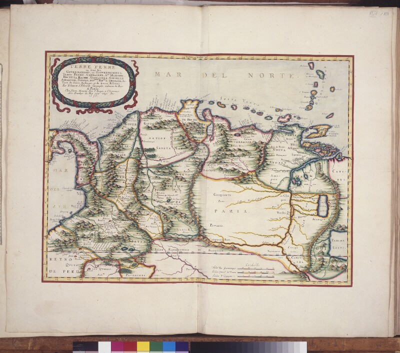 Landkarte von Venezuela und Neugranada (Kolumbien)