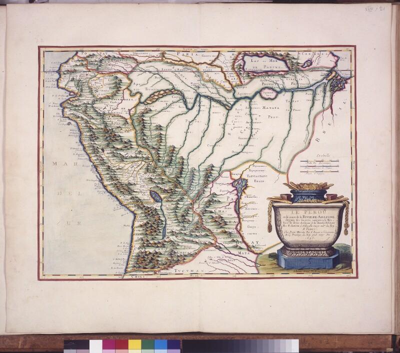Landkarte von Peru und dem Amazonasfluß