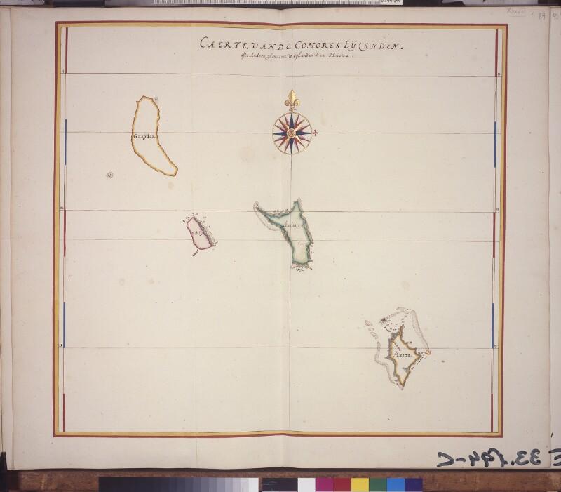 Landkarte der Komoren
