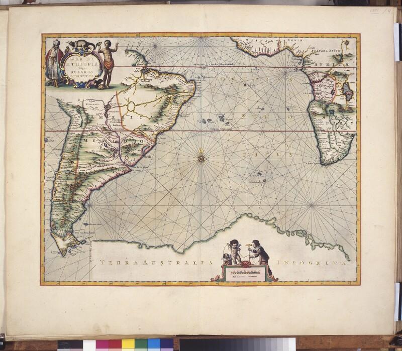 Landkarte des südatlantischen Ozeans