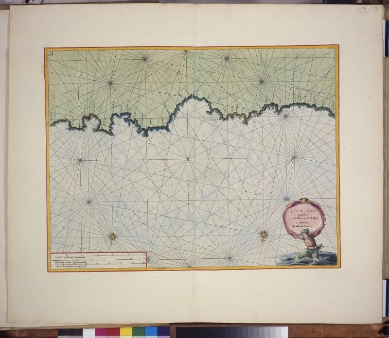 Landkarte (Seekarte) der algerischen Küste