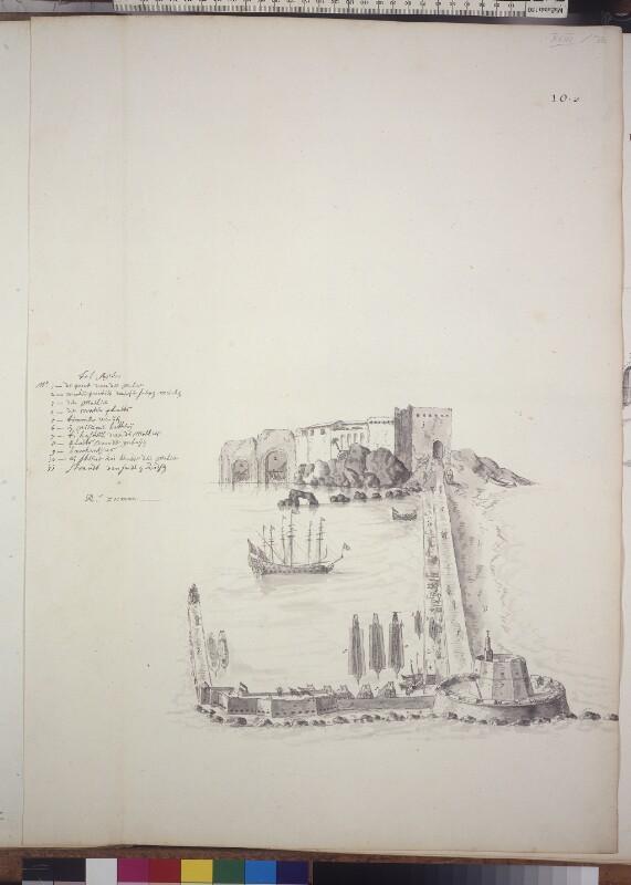 Hafenburg und Mole von Algier