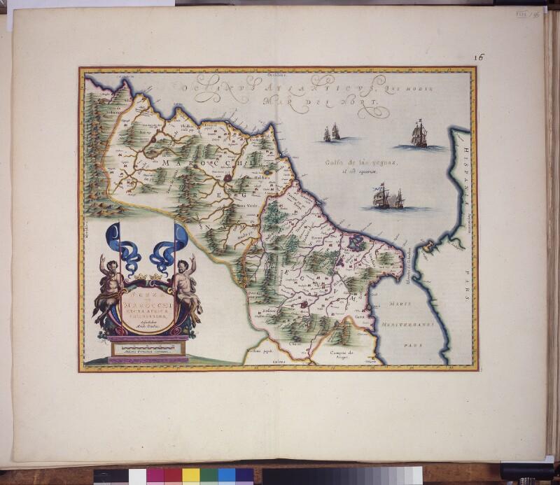 Landkarte der Königreiche Fez und Marokko