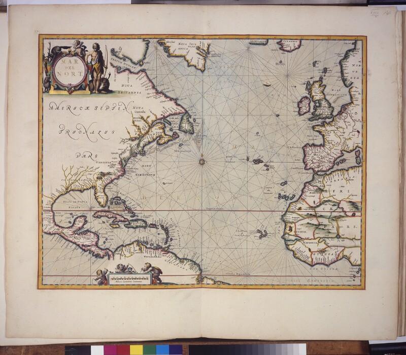 Landkarte (Seekarte) des nördlichen Atlantischen Ozeans