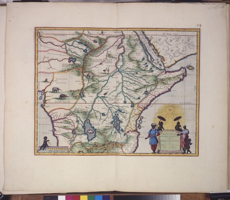 Landkarte von Oberäthiopien (Ost- und Zentralafrika)