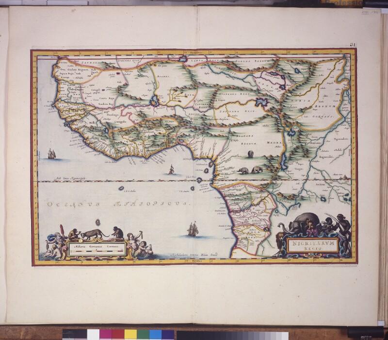 Landkarte der Region um den Fluss Niger