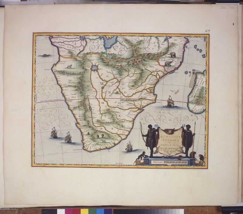Landkarte von Unteräthiopien (südl. Afrika)