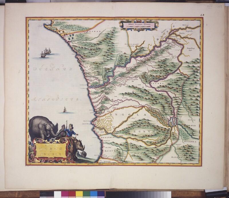 Landkarte von Kongo und Angola
