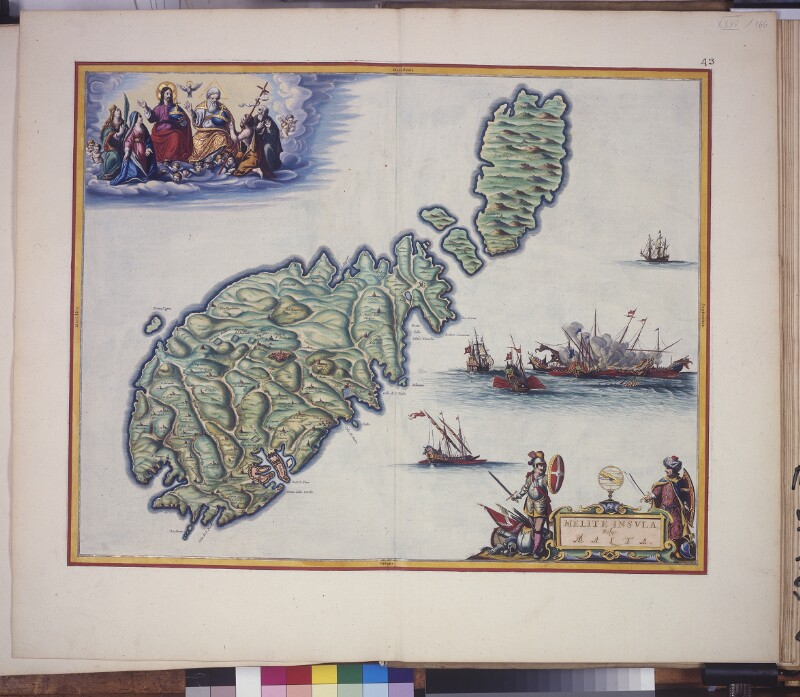 Landkarte von Malta und Gozo