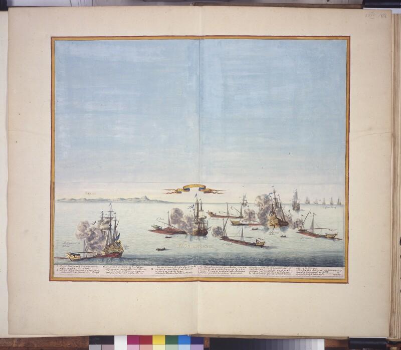 Seeschlacht von 1645 zwischen Maltesern und Türken nahe Rhodos