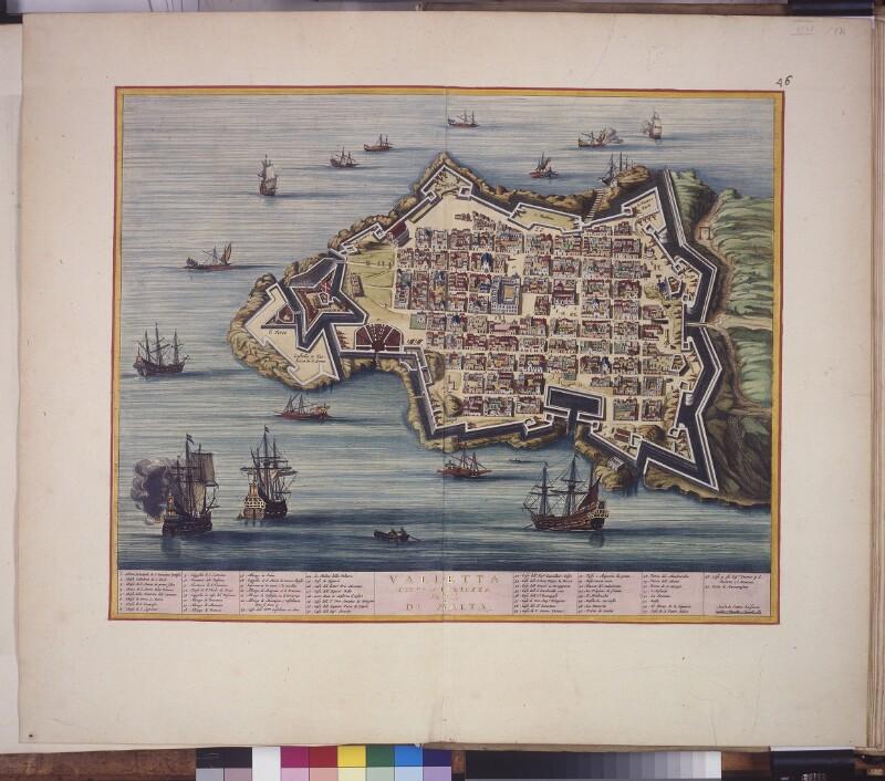 Stadtplan von Valletta