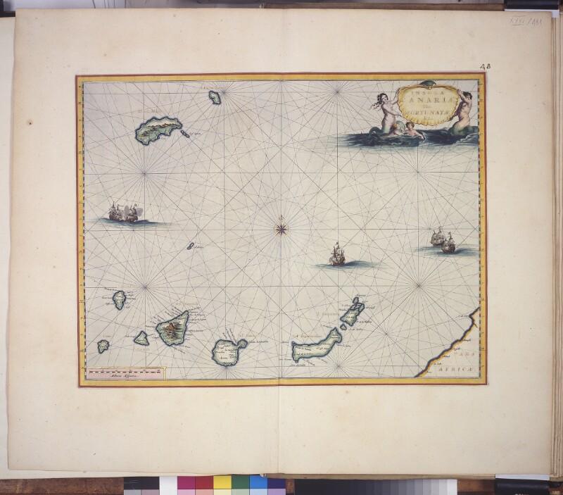 Landkarte von Madeira und den kanarischen Inseln