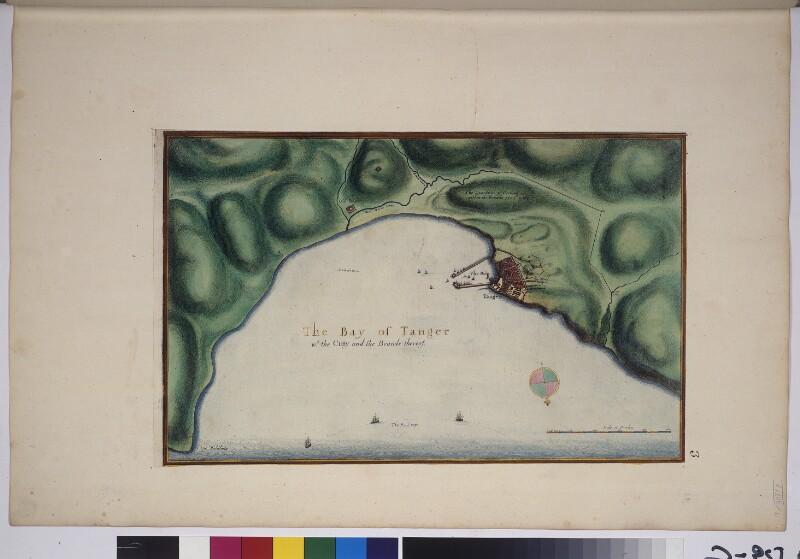 Landkarte der Bucht von Tanger