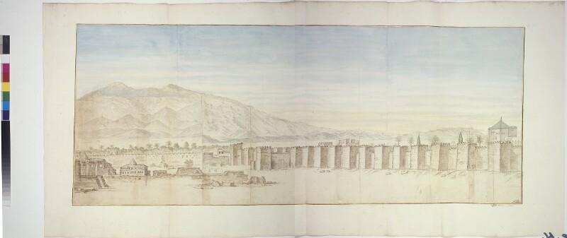 Ansicht von Marrakesch (linker Teil)