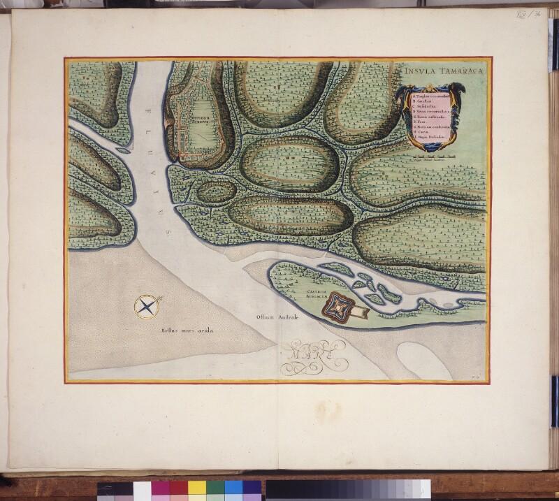 Karte von Fort Oranje und Conceicão auf der Insel Itamaracá