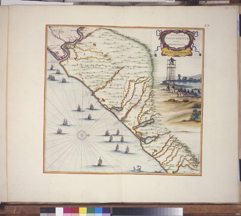 Landkarte des südlichen Pernambuco