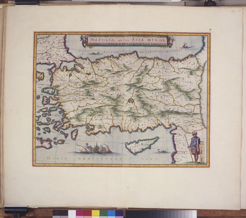 Landkarte von Anatolien