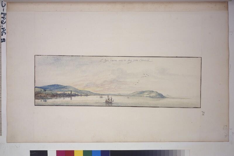 Ansicht von Akko (Akkon) und das Karmel-Gebirge