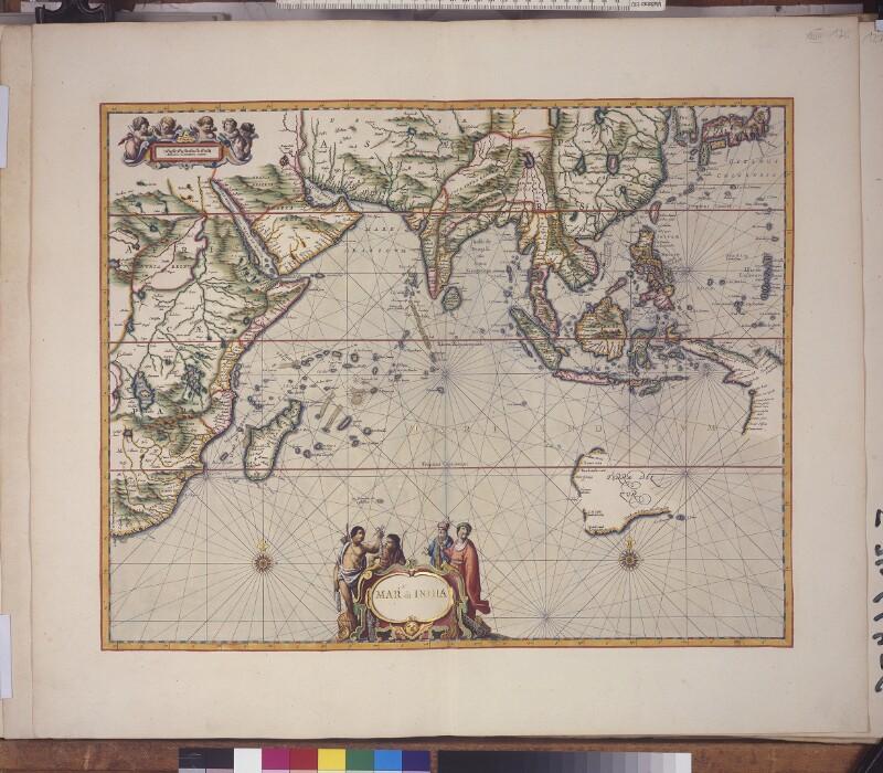 Seekarte des Indischen Ozeans