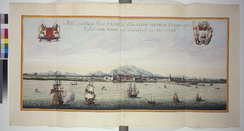Ansicht von Burg und Stadt Batavia (Jakarta)
