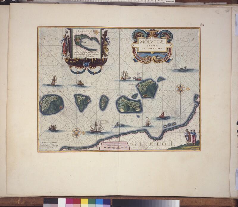Landkarte der Molukken
