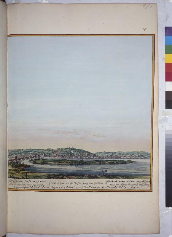 Blick von Osten auf Lyon