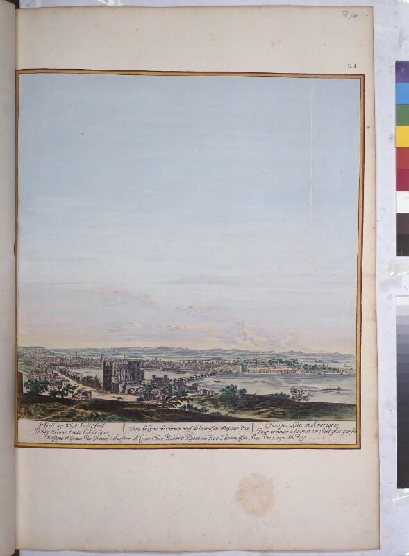 Blick von Südwesten auf Lyon