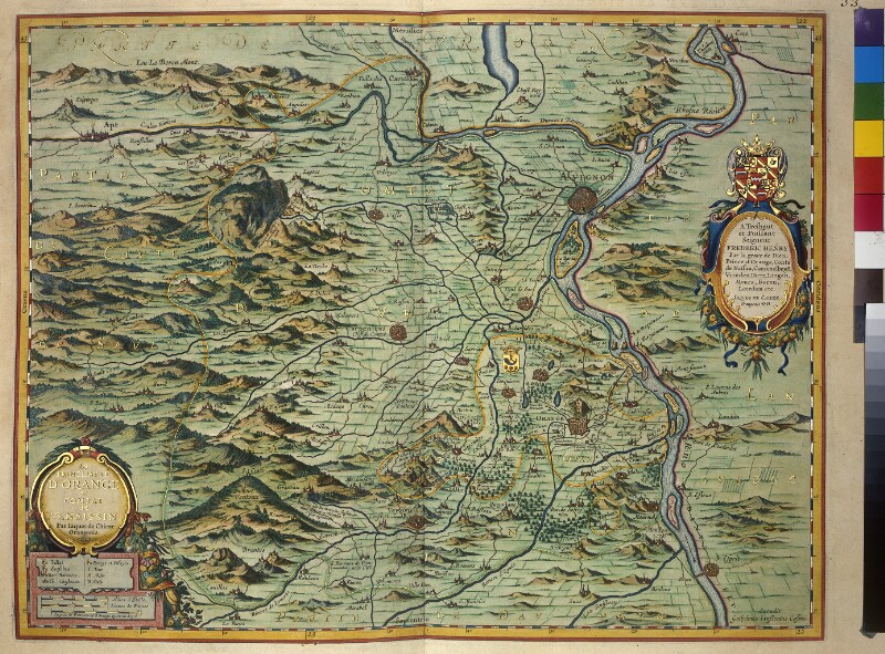 Landkarte des Fürstentums Orange und der Grafschaft Venaissain