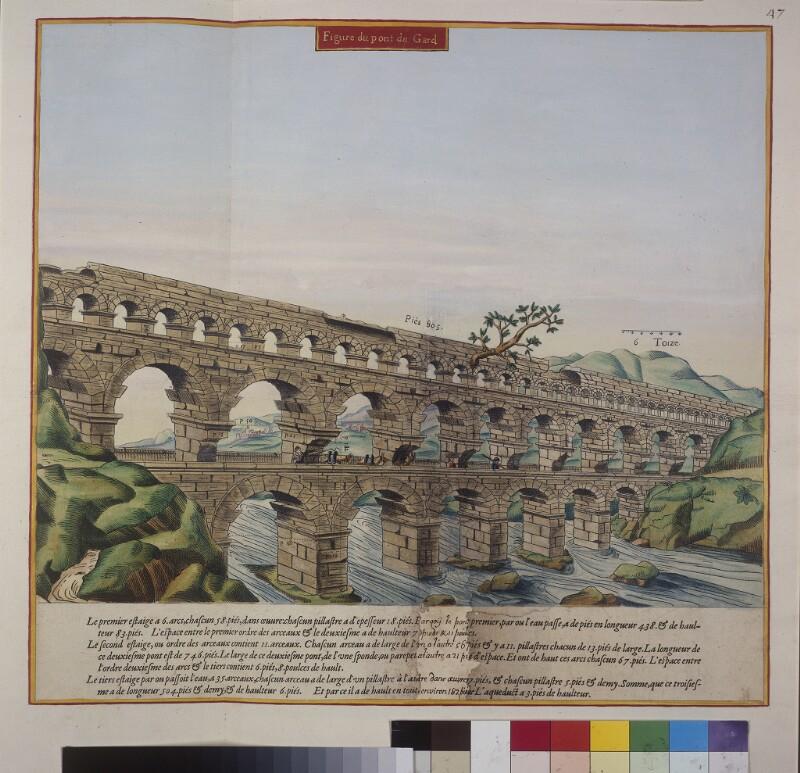 Die Gard-Brücke (Pont du Gard)