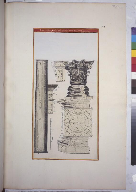 Details der Säulen des Dianatempels in Nîmes