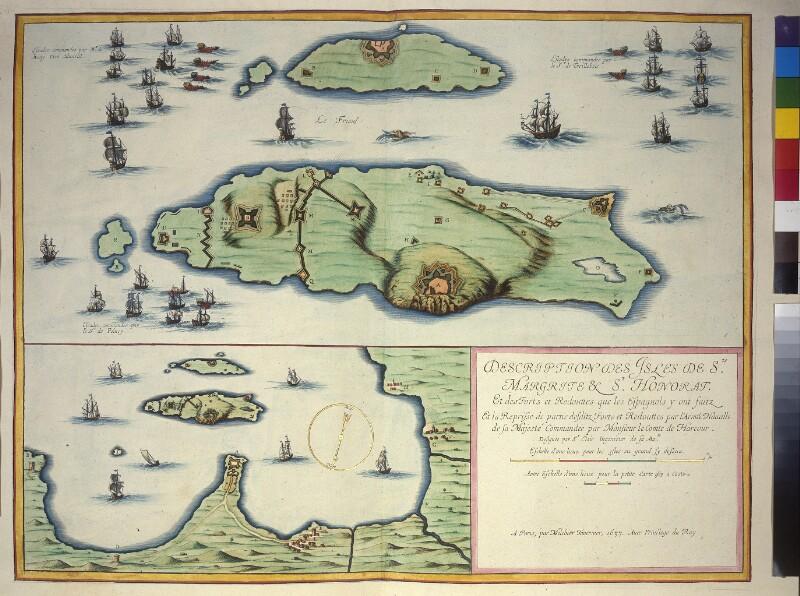 Karte der Wiedereinnahme der Iles de Lérins