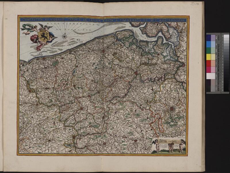 Landkarte der Grafschaft Flandern