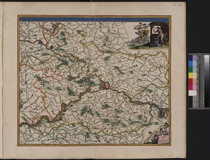 Landkarte der Grafschaft von Namur