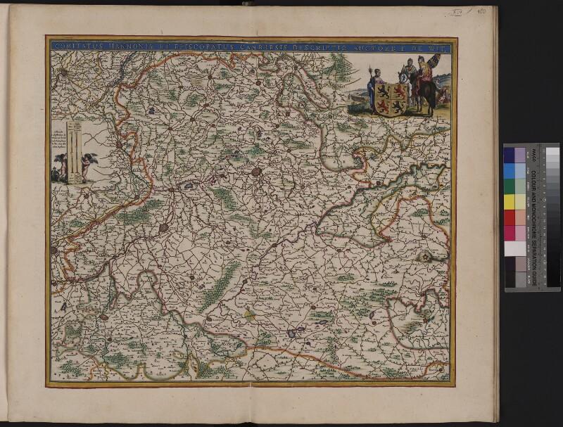Landkarte der Grafschaft von Hennegau und der Diözese von Cambrai