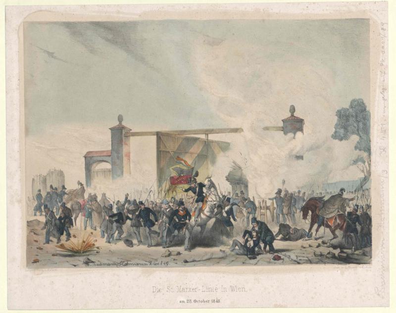 Die St. Marxer-Linie in Wien, am 28. October 1848