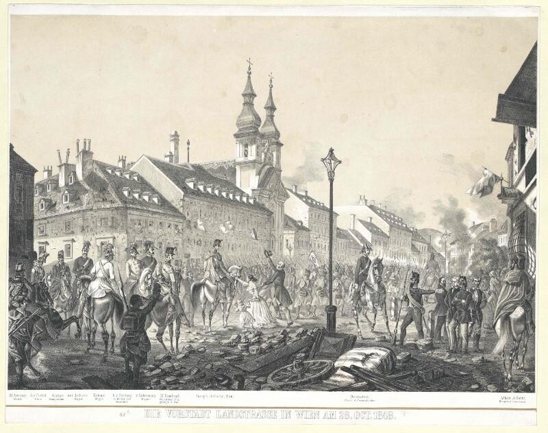 Die Vorstadt Landstrasse in Wien am 28. Oct. 1848