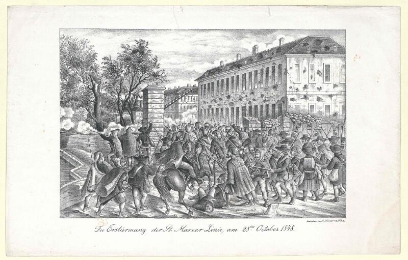 Die Erstürmung der St. Marxer Linie, am 28ten October 1848