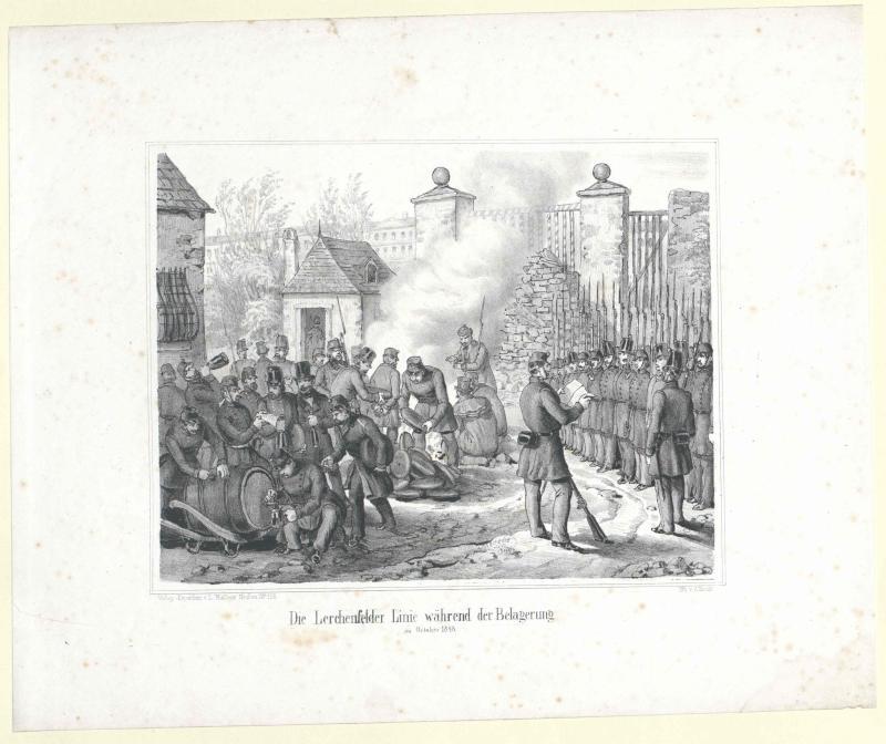 Die Lerchenfelder Linie während der Belagerung im October 1848