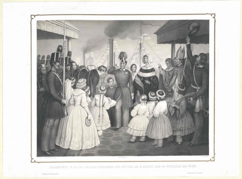 Die Ankunft Sr. M. des Kaisers Ferdinand des Gütigen am 12. August 1848 in Nussdorf bei Wien