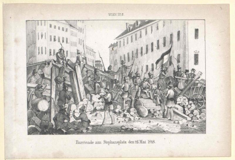 Barricade am Stephansplatz den 26. Mai 1848