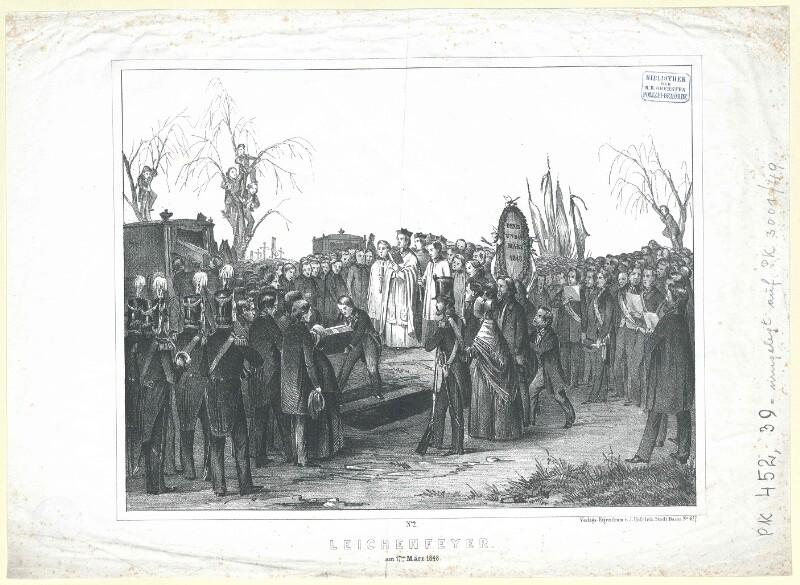 Leichenfeyer am 17ten März 1848